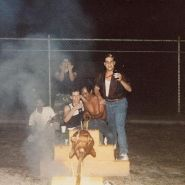 Me hanging with a couple of K-9 troops at a good old fashioned pig roast.