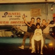 Mike Pollot, myself, Hal and DJ Joey outside of Olivers