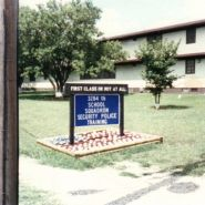Lackland Air Force base Security Police Training School sign